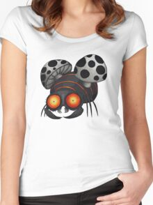 Buuuu Moonlight Monster  Women's Fitted Scoop T-Shirt