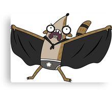 Rigby Batman Canvas Print