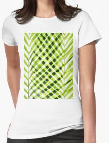Palm leaves I Womens Fitted T-Shirt