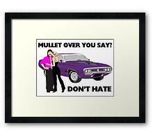Mullet Over Think Again Framed Print