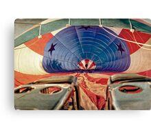 Pre-flight Check on Hot Air Balloon Canvas Print