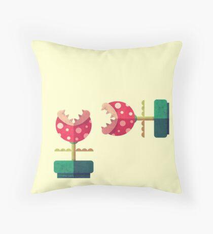 Piranha Plant Throw Pillow
