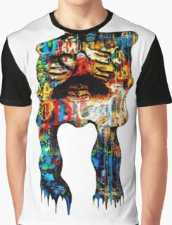 Graffiti Skeleton Graphic T-Shirt
