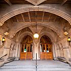 Manchester Town Hall's Entrance by Stephen Knowles