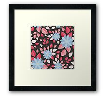Seamless wall-paper, decorative flowers. Framed Print