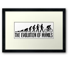 Funny MAMIL Middle Aged Man In Lycra Evolution Framed Print