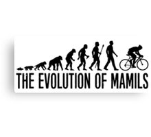 Funny MAMIL Middle Aged Man In Lycra Evolution Canvas Print