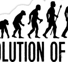 Funny MAMIL Middle Aged Man In Lycra Evolution Sticker