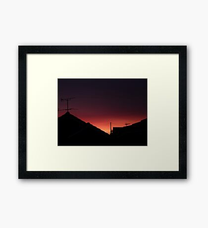 Fire in the Sky sunrise Framed Print