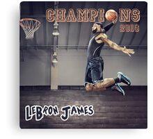 Cavaliers win Basketball Championship as LeBron James Canvas Print