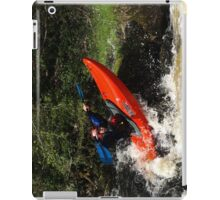 Whitewater playboater iPad Case/Skin