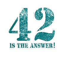 42 is the answer to everything Photographic Print