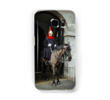 Horse guard on duty at Buckingham Palace Samsung Galaxy Case/Skin