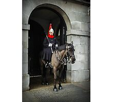 Horse guard on duty at Buckingham Palace Photographic Print
