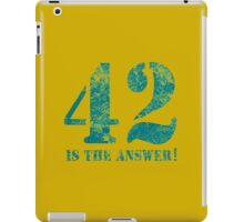42 is the answer to everything iPad Case/Skin