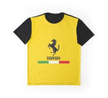 Ferrari Logo with Italian Flag Graphic T-Shirt