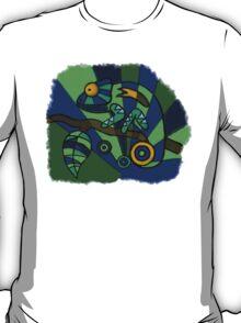 Hand-Drawn-Style PopArt Chameleon T-Shirt