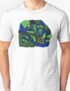 Hand-Drawn-Style PopArt Chameleon T-Shirt