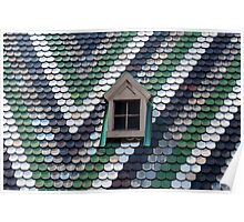 Roof shingles. Poster