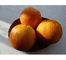 Orange Fruit Bowl Photographic Print