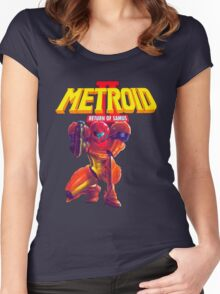 Metroid 2 Women's Fitted Scoop T-Shirt