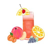 simple cocktail with fruit Photographic Print