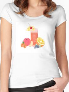 simple cocktail with fruit Women's Fitted Scoop T-Shirt