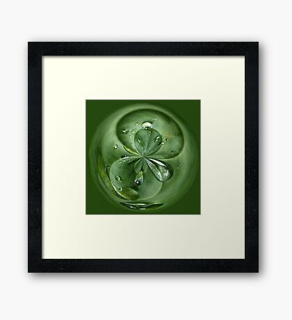 Join me for a drop Framed Print