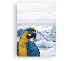 Parrot on Holiday Canvas Print
