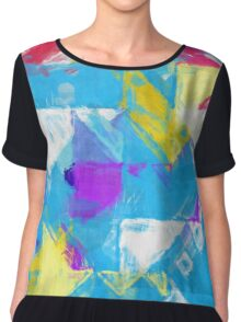 Abstract pastel paint Chiffon Top