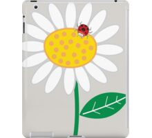 Whimsical Summer White Daisy and Red Ladybug iPad Case/Skin