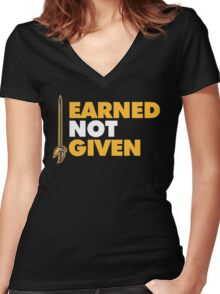 EARNED IT! Women's Fitted V-Neck T-Shirt