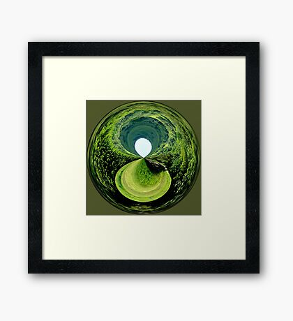 Black Hole in the Moor Framed Print