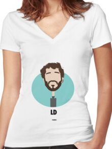 Lil Dicky Women's Fitted V-Neck T-Shirt
