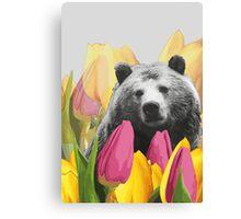 Bear Visits the Botanical Garden Canvas Print