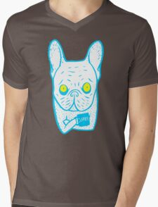 Coffee is Frenchie's best friend Mens V-Neck T-Shirt