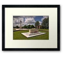 Hooge Cemetery  Framed Print