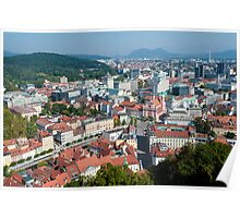 City of Ljubljana, Slovenia. Poster