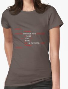 Prettier on the Inside - White and Red T-Shirt