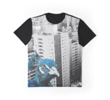 Blue Bird in the City Graphic T-Shirt