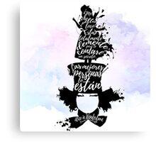 Alice in wonderland - La locura del sombrerero Canvas Print