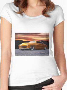 1950 Mercury Custom Coupe Women's Fitted Scoop T-Shirt