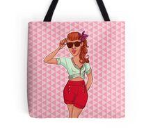 Strawberry Retro Tote Bag