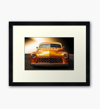 1950 Mercury Custom Coupe 'Grill Detail' Framed Print