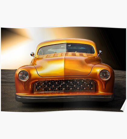 1950 Mercury Custom Coupe 'Grill Detail' Poster
