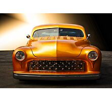 1950 Mercury Custom Coupe 'Grill Detail' Photographic Print