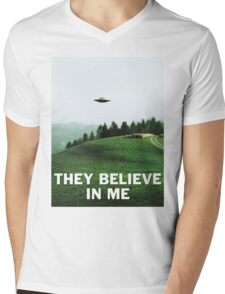 THEY BELIEVE IN ME Mens V-Neck T-Shirt