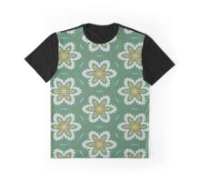 Yellow flowers pattern Graphic T-Shirt