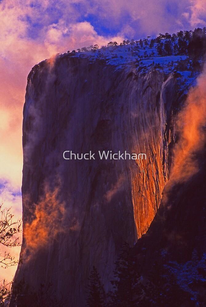 SUNSET ON EL CAPITAN by Chuck Wickham