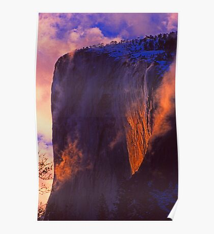 SUNSET ON EL CAPITAN Poster